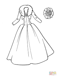 Beautiful Dress Coloring Page