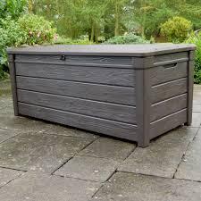 Keter Woodland Storage Box by Brightwood Wood Effect Plastic Garden Storage Box Departments