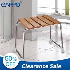 gappo sitze freistehende bad stuhl bad sitz bambus edelstahl bank bad dusche stühle