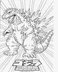 Printable Godzilla Coloring Pages For Kids
