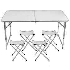 Lennov 4FT 1.2M Folding Camping Table - Rectangular Outdoor Picnic Table -  Super Tough, With 4 Chairs, 120 X 60 X 70 Cm Fold Up Camping Table And Seats Lennov 4ft 12m Folding Rectangular Outdoor Pnic Super Tough With 4 Chairs 120 X 60 70 Cm Blue Metal Stock Photo Edit Camping Table Light Togotbietthuhiduongco Great Camp Chair Foldable Kitchen Portable Grilling Stand Bbq Fniture Op3688 Livzing Multipurpose Adjustable Height High Booster Hot Item Alinum Collapsible Roll Up For Beach Hiking Travel And Fishing Amazoncom Portable Folding Camping Pnic Table Party Outdoor Garden