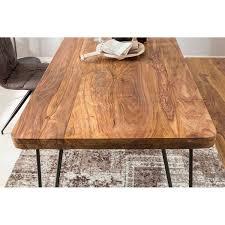esstisch massivholz sheesham esszimmer tisch holztisch mit metallbeinen dunkel braun natur produkt massivholzmöbel b h t ca 200 76 80cm