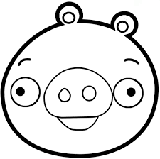Angry Birds Pig Printable Coloring Pages