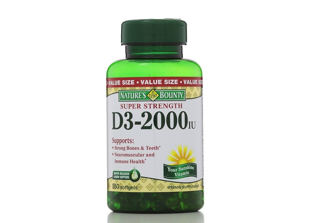 Nature's Bounty Vitamin D3 2000 IU Vitamin Supplement - 350ct
