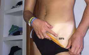 Guy Gets A Skepta Tattoo On His Pelvis Girlfriend Immediately