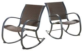 leann outdoor brown wicker rocking chairs contemporary