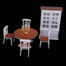 moderne 1 12 skala esstisch stuhl sammeln schrank kit für puppenhaus esszimmer wohnzimmer leben szenen decor zubehör