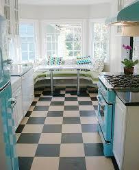 Diner Style Kitchen With Trendy Breakfast Nook
