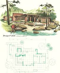 The Retro Home Plans by Vintage House Plans Vacation Homes 1960s House Ideas
