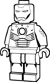Lego Man Coloring Page Iron Wecoloringpage To Download
