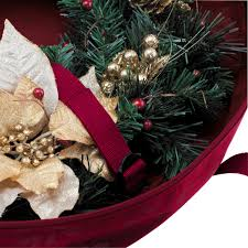Christmas Tree Trash Bags Walmart by Classic Accessories Wreath Storage Bag Large Walmart Com