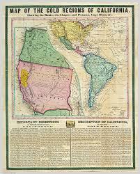Map Of The Gold Regions California Wikimedia