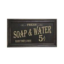Vintage Bathroom Wood Sign Home Decor Wall Art Retro Rustic Perfect Gift NEW