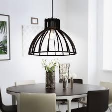 etc shop deckenleuchte hängeleuchte vintage gitterle schwarz hängele esstisch holz rustikal käfig design retro 1x e27 d 34 cm esszimmer