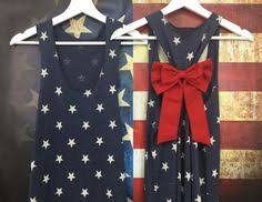 Bow Tank Top Star 4th Of July American Flag