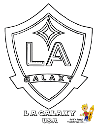 Los Angeles Galaxy Coloring Pages