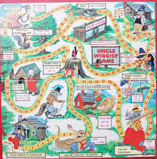 Vintage Uncle Wiggily Game Board