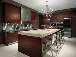 Mini Modern Kitchen Design Ideas With Wooden Cabinetry Contemporary Brown L Shaped Island Sink Also Granite Top Islands