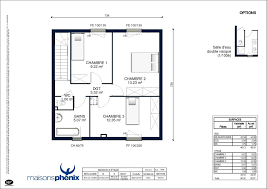 plan maison plain pied 2 chambres plan maison 70m2 plein pied modele maison 100m2 combles amenageables