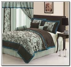 Brown And Teal Bedding Full Size White Cotton Bed Sheet Brown