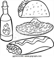 Mexican Food Clipart Black And White Clip Art Bay Rh Clipartbay Com Kawaii Drawings Someone Drawing