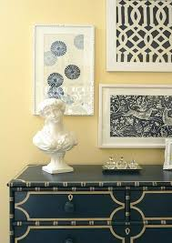 Diy Bedroom Wall Art Navy Blue And White Framed Fabric
