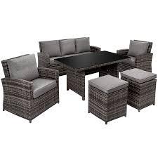 aluminium rattan sitzgruppe miami mit sofa sitzgruppe