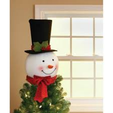 Unlit Christmas Tree Toppers by Amazon Com 18 In Snowman Head With Hat Christmas Tree Topper