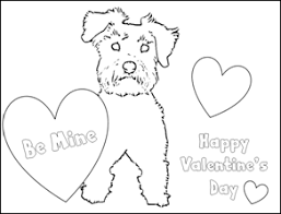 Schnauzer Puppy Valentine Coloring Pages