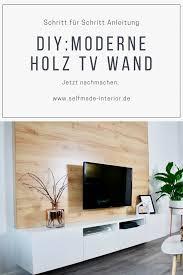 diy tv wand aus holz bauen selfmade interior tv wand