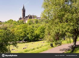 100 The Lawns Students Of The University Of Glasgow On The Lawns Of