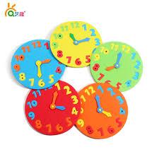5 Couleurs Enfants BRICOLAGE A La Main EVA Horloges Bebe Ecole Maternelle Temps D
