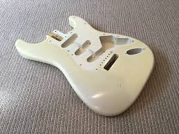 Fender Stratocaster Body Aged By Gord Miller Better Than Custom Shop Olympic White Relic Allparts