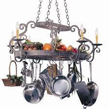 lighted hanging pot racks you ll wayfair