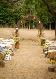 Cheap Seating For Outdoor Wedding Inspirational Rustic Arch Made Out Of Grapevine Was Hay