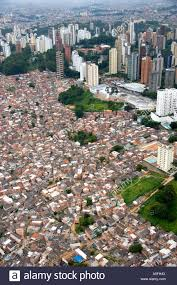 100 Apartment In Sao Paulo Aerial View Of Crowded Favela Housing Contrasts With Modern