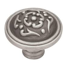Gliderite Satin Pewter Deco Cabinet Pulls by Pewter Cabinet Knobs Cabinet Hardware The Home Depot