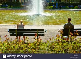 100 Karlaplan People Sitting In Square In Stermalm District In