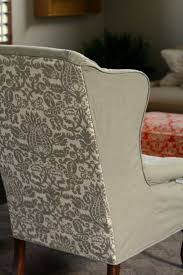 Camelback Sofa Slipcover Pattern by Best 25 Wingback Chair Covers Ideas On Pinterest Wingback