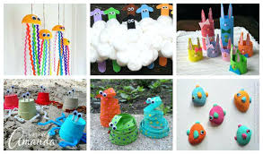 Craft Projects Recycled Materials Ideas With Kids Preschool Crafts Colorful More Than Rec