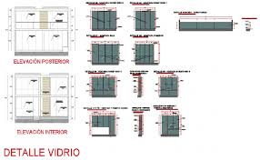 Glass Elevation And Section Detail Dwg File