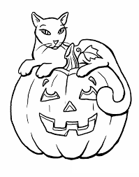 Halloween Cat Coloring Pages To Print Picture