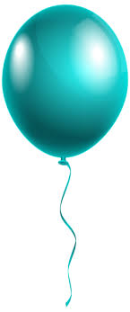 Single Modern Blue Balloon PNG Clipart Image