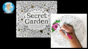 Secret Garden By Johanna Basford Adult Coloring Book Flowers