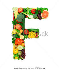 Letter F Made 3d Fruits Isolated Stock Illustration