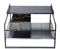 casa padrino luxus couchtisch schwarz 60 x 60 x h 36 5 cm designer wohnzimmertisch