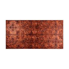 Frp Ceiling Tiles 2 4 by Fasade Traditional 2 2 Ft X 4 Ft Glue Up Ceiling Tile In Oil