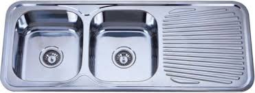 kid11848 double bowl stainless steel sink with drainboard buy