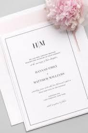 Minimalist Black and White Hand Lettered Wedding Invitations