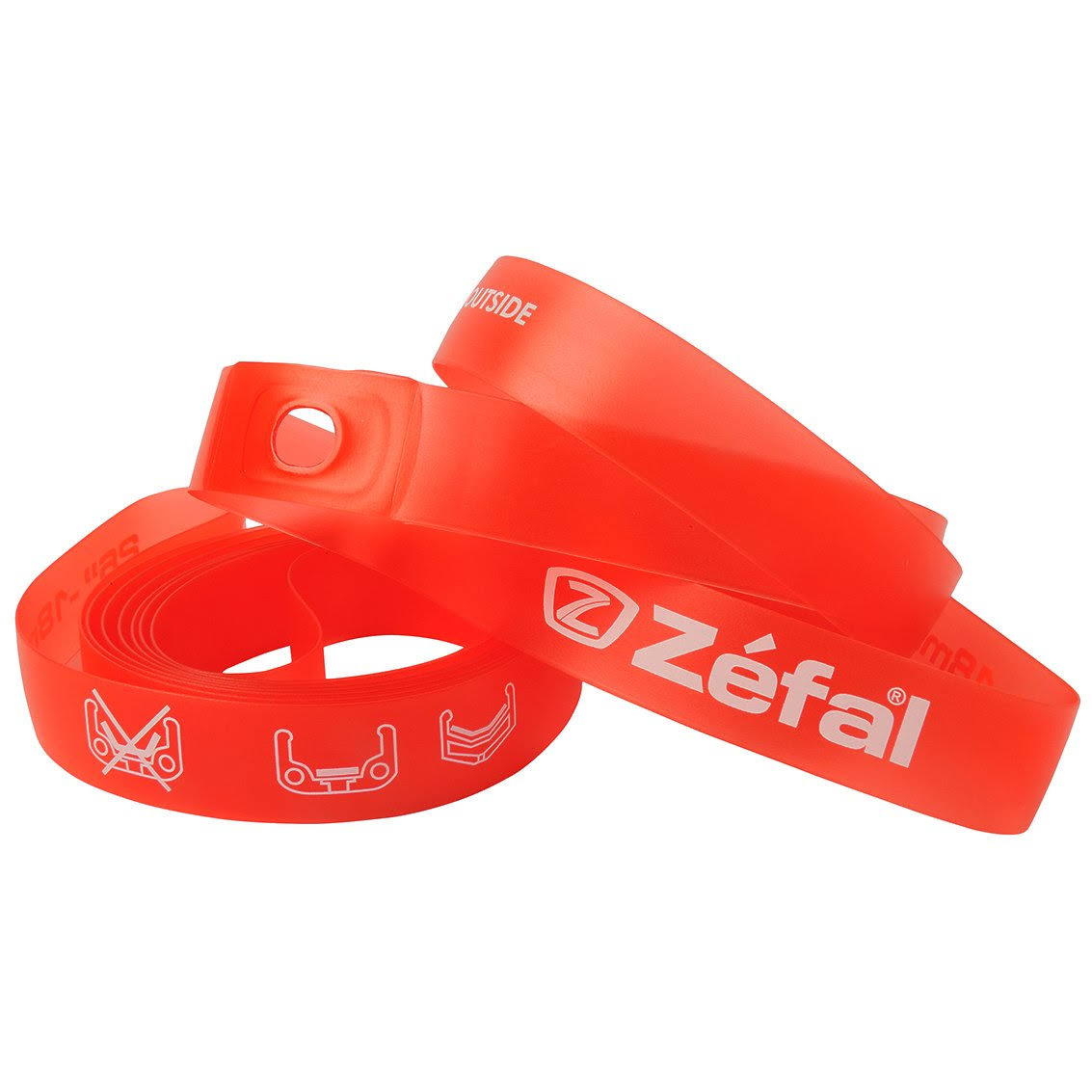 Zefal PVC Rim Tape - Red, 18mm x 26in